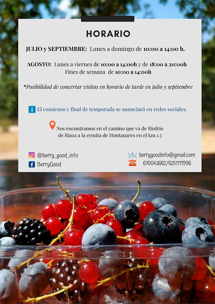 Berrygood Frutos del Bosque Naturalmente buenos Horario Temporada 2021